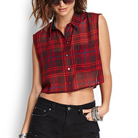 Fresh Plaid Cropped Shirt