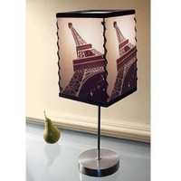 "Contemporary Photographic Art Lamp - ""Eiffel Tower"""