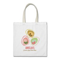 Retro Pastels Chicks Chic Cute Easter Egg Hunt Bag