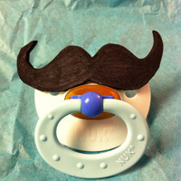 Mustache Baby Pacifier by TinkerTwirlsandTies on Etsy