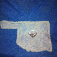Heart of Oklahoma Rhinestone Tee by TinkerTwirlsandTies on Etsy