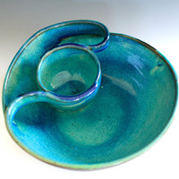 Chip and Dip handmade ceramic dish ceramics and by ocpottery