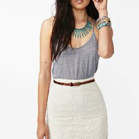 Jillian Crochet Skirt - Ivory in  Clothes Bottoms Skirts at Nasty Gal