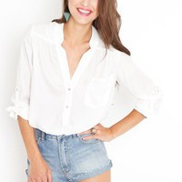 Cloud Nine Blouse in  Clothes at Nasty Gal