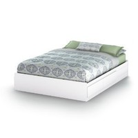South Shore Vito Collection Queen 60-Inch Mates Bed, Pure White