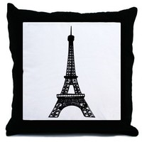 Eiffel Tower Throw Pillow - CafePress