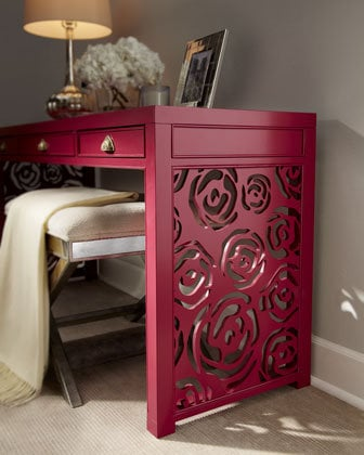 "Red Egg - ""Janette"" Rose Console - Horchow"