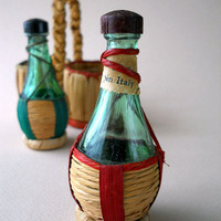 Vintage Wine Bottles Salt and Pepper Shakers by whatnotsandsuch