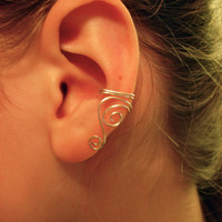 Ear Cuffs Pair of Silver Plated Ear Cuffs with by jhammerberg