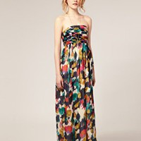 ASOS | ASOS Multi Smudge Print Maxi Dress at ASOS