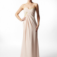 Shop For Evening Dresses |Secret Cream Chiffon Grecian Dress From VERB