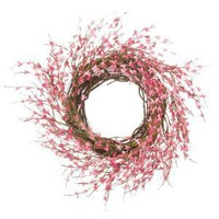 Pink Japanese Forsythia Wreath (24 Inches)
