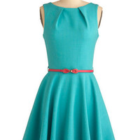 Luck Be a Lady Dress in Teal | Mod Retro Vintage Dresses | ModCloth.com
