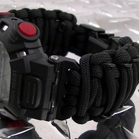 Tactical Para-Cord Watch Band fits Casio G-Shock Mudman Series