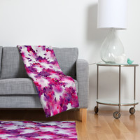 Jacqueline Maldonado Love Blooms Fleece Throw Blanket