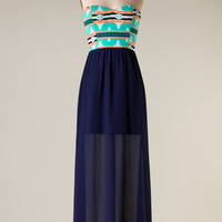 Navy - Party in the City Maxi Dress - Hazel & Olive