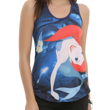 Disney The Little Mermaid Ariel Grotto Swim Girls Tank Top