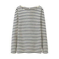 UNIQLO WOMENSTRIPED BOAT NECKLONG SLEEVET-SHIRT