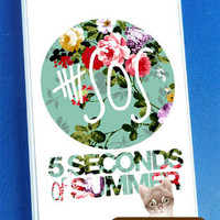 5SOS Vintage Logo - iPhone 4/4s/5 Case - Samsung Galaxy S2/S3/S4 Case - Blackberry Z10 Case - Ipod 4/5 Case - Black or White