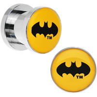 00 Gauge Stainless Steel Light Up Batman Plug Set | Body Candy Body Jewelry