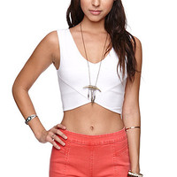 LA Hearts V Front Cropped Tank at PacSun.com