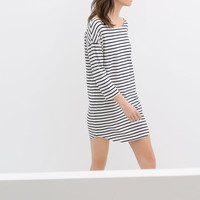 ORGANIC COTTON STRIPED DRESS