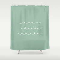 Water - Minimalist Feng Shui - by Friztin Shower Curtain by friztin