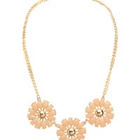 Flower Statement Short-Strand Necklace