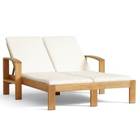 MADERA TEAK DOUBLE CHAISE & CUSHION