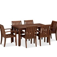 CHATHAM RECTANGULAR FIXED DINING TABLE & CHAIR SET