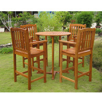 Royal Tahiti Pontevedra Bar-Height Outdoor Table & Chairs Set