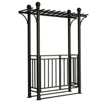 Gate Arbor with Pergola Style Top