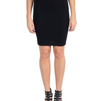 Textured Pencil Skirt - Black