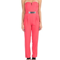 Gold Plated Jumpsuit - Coral