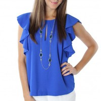 Royal Flutter Top