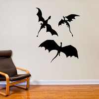3 Dragons Wall Decal Decor Inspired by Game of Thrones