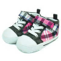 """STOCKTON HIGH-TOP"" - PINK PLAID"