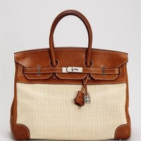 Hermes LU Barenia Striped Crinoline Birkin 35, 7/10 Condition