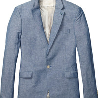 Summer blazer in cotton/linen blend - Scotch & Soda