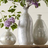MILKY MERCURY GLASS VASES