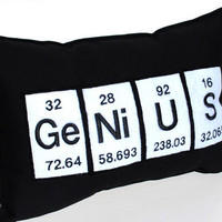 Genius Periodic Table Embroidered Science by YellowBugBoutique