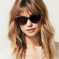 Free People Womens Black Cat Sunglass -