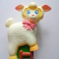 Vintage Musical Lullaby Lamb Crib Toy 1982