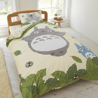 Studio Ghibli Neighbor Totoro Duvet Comforter Cover Fitted Sheets Set
