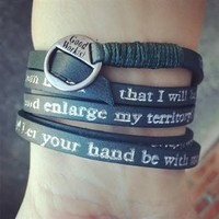 1 Chronicles 4:10 Wrap Bracelet - Green