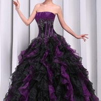 MerMaid Women's Formal Wedding Quinceanera Ball Gown Evening Dress L2002