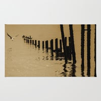 SEPIA SEA Area & Throw Rug by Catspaws | Society6