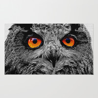 YOU'RE THE ORANGE OF MY EYES Area & Throw Rug by Catspaws | Society6