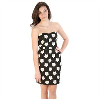 Mystic Juniors Strapless Daisy Print Dress at Von Maur