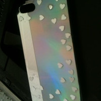 Silver Holographic iPhone 5 case cover iPhone 5s ,4s case rainbow shiny Future Mrs Mr Wedding Date Custom iPhone Case